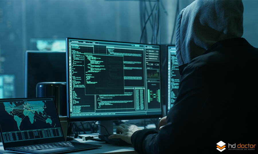 Dados criptografados por ransomware